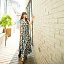 MQ Ženska pješćane plaže Leopard Print visokim strukom duga haljina