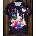 Jogal 3D花が漫画シリーズTシャツを印刷(T248の画面の色)