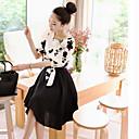 SEXYLADY Dámská Výšivky Two-Piece Slim šaty s sukně (Screen, Color)