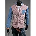 Slava ovratnik košulje Dugi rukav Pokrivač Pattern srastanje Boja Shirt