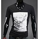 マーク·メンズ·ファッションボディコンフローラルプリント半袖Tシャツ