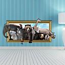 3D životinja zidne naljepnice Naljepnice Zid