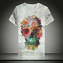 メンズ夏のプリント半袖Tシャツ