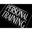 osobní trénink tělocvična trenér neonové světlo nápis
