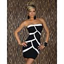 Fellie Ženska Kaiša kontrast boja Bodycon Dress