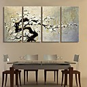 Rastegnut Canvas Art Plum Blossom dekoracija Set od 4