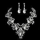 Nakit Set Žene Vjenčanje / Special Occasion Nakit Kompleti Imitacija Pearl / Umjetno drago kamenje Ogrlice / Füllbevalók Srebro
