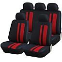 9 kom Set Car Seat Covers Universal Fit Materijal poliester Stripe Dizajn Auto oprema