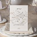 10/20/50のゴージャスな動植物の設計白結婚式の招待状セット
