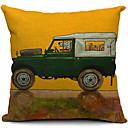 cartoon funny řidič pes bavlna / len dekorativní polštář