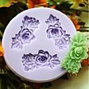 tři květiny pečení fondán dort choclate cukroví plísně, l6.1cm * w5.9cm * h0.9cm