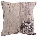 "Createforlife ® 18 ""x 18"" Trg Drevni Vintage Style Grey Cvjetni Pamuk / Posteljina Dekorativni jastuk"