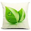 Svježe lišće pamuk / lan ukrasne jastuk pokriti