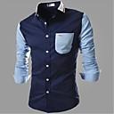 男性用 プレイン カジュアル / オフィス シャツ,長袖