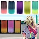 24 palců dlouhý rovný syntetický klip v prodlužování vlasů s 5 klipy - 8 barev k dispozici