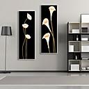 花柄/植物の 額入りキャンバス / 額入りセット ウォールアート,ポリ塩化ビニル ホワイト マットなし フレーム付き ウォールアート
