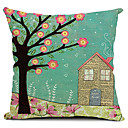 春の風景のコットン/リネン装飾枕カバー