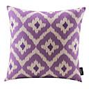 紫色の菱形コットン/リネン装飾枕カバー