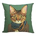 Moderní hezký kočka bavlna / len dekorativní polštář