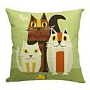 Tři krásné kočky bavlna / len dekorativní polštář