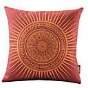 rtěnka červená slunce bavlna / len dekorativní polštář