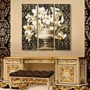 rastegnuti platnu umjetnosti klasična cvijet set od 3