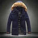Pánské Směs bavlny Jednobarevné Obyčejný S vycpávkou Kabát Dlouhý rukáv