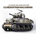 Tenk HL M4A3 1:16 RC Car Zelena Ready-To-Go Tenk / Daljinski upravljač/Odašiljač / Baterija za auto / Upute za korištenje