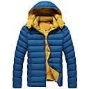 男性のフード付きの綿が詰め服のコート