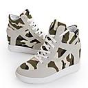 Ženske cipele - Modne tenisice - Ležerne prilike - Platno - Puna potpetica - Udobne cipele / Zaobljene cipele - Crna / Bež
