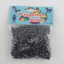 子供のための約500個/袋5ミリメートルグレーperlerビーズヒューズビーズ浜ビーズDIYのジグソーパズルEVA素材のセーフティ