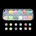 60pcs 12 Barvy malý květ pryskyřice nail art dekorace