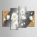 Reprodukce na plátně umění krásné květiny dekorativní sada 4