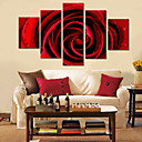Protezala Canvas Art Cvjetni Crvena ruža Set od 5