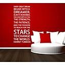 jiubai® snílek quote zeď nálepka Lepicí obraz na stěnu