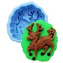 Vánoční losů zvěř fondant dort čokoládový Silikonová forma dort dekorace nástrojů, l10cm * w8.5cm * h4cm