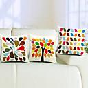 Šaren set 3 pamuka / lana dekorativni jastuk naslovnici