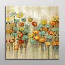 手描きの 花柄/植物の 1枚 キャンバス ハング塗装油絵 For ホームデコレーション