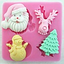 Božićni Mraz stablo alati jelena snjegović fondant torta