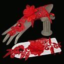 K zápěstí Bez prstů Rukavice Tyl Pro nevěstu Jaro Léto Podzim Zima
