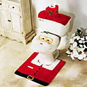 3 ks vánoční koupelna příslušenství, 1ks toaletní křeslo 1ks Držák na toaletní papír 1ks koupelnové rohože