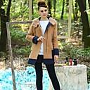 Incern®Women's Lamb Fur Woolen Hoodie Coat