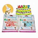 男の子と女の子の創造的な誕生日のキャンドル