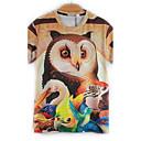 Print Muška Majica s rukavima Ležerne prilike,Mješavina pamuka Kratkih rukava-Više boja