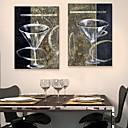 e-HOME® plátně jsi sklenku červeného vína pohár dekorace malby sada 2