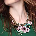 Jane Kámen New Příjezd Barevné drahokamu květina náhrdelník Dámské módní doplňky
