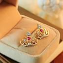 美しい王冠の水晶のイヤリング