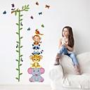 samolepky na zeď Lepicí obrazy na stěnu, kreslený film zvířata výška pvc nástěnné samolepky
