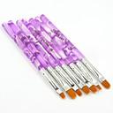 7ks krásné akryl uv gel štětcem nail art malba kartáč sada pro gelové nehtů