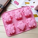 愛の動物ケーキ型アイスゼリーチョコレートモールド、シリコーン26.1×20.2×2.5センチメートル(10.3×8×1インチ)
